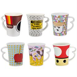 Caneca Easy 330 ml, diversas estampas animadas.